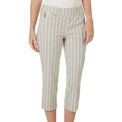 Zac & Rachel Womens Striped Millennium Capris