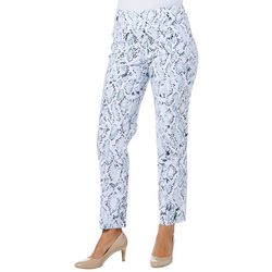 Zac & Rachel Womens Pull On Snake Skin Print Pants