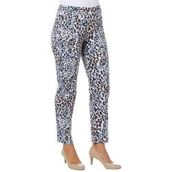 Zac & Rachel Womens Pull On Leopard Print Pants