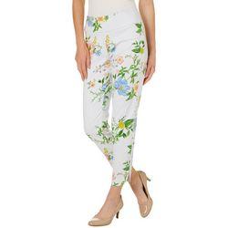 Zac & Rachel Womens Garden Print Pull On Pants