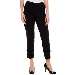 Zac & Rachel Womens Embellished Hem Ankle Pants
