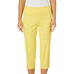 Zac & Rachel Womens Ring Hem Pull On Crop Pants
