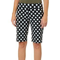 Zac & Rachel Womens Polka Dot Millennium Bermuda Shorts