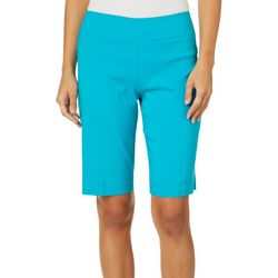 Zac & Rachel Womens Solid Pull On Bermuda Shorts