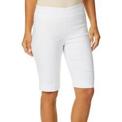 Zac & Rachel Womens Solid Millennium Pull On Bermuda Shorts