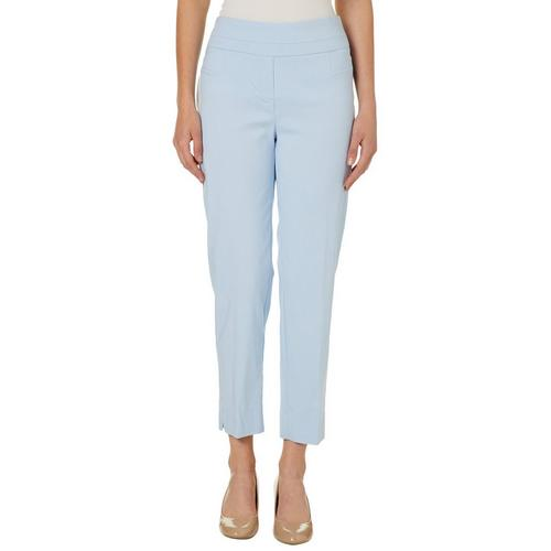 23e632345ff91 Zac   Rachel Womens Solid Pull On Slim Fit Pants