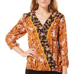 Zac & Rachel Womens High Low Floral Print Top