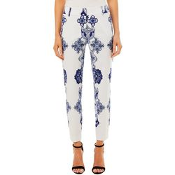 Prosecco Womens Tile Print Slim Ankle Pants