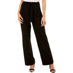 Nanette Lepore Womens Solid Belted Pull-On Pants