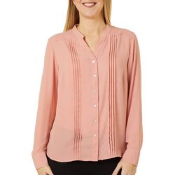 Nanette Lepore Womens Solid Button Down Top