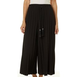 MSK Womens Solid Pleated Pull On Pants