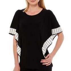Coco Bianco Womens Contrast Border Short Sleeve Top