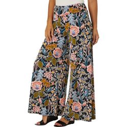 Coco Bianco Womens Floral Puff Print Palazzo Pants
