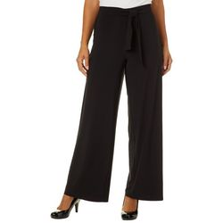 Notations Womens Tie Front Wide Leg Pants