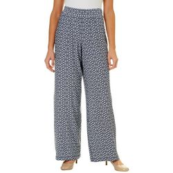 Notations Womens Medallion Print Pull On Pants