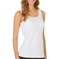 Notations Womens Solid Round Neck Tank Top