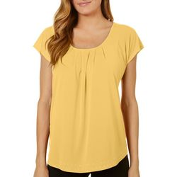 Notations Womens Embellished Cap Sleeve Top