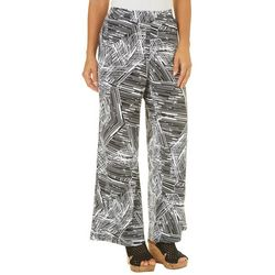 Notations Womens Abstract Striped Palazzo Pants