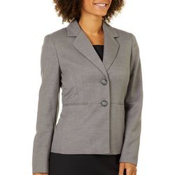 Kasper Womens Heathered Double Button Blazer