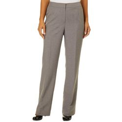 Kasper Womens Heathered Straight Leg Pants