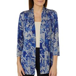 Famous Maker Womens Tropical Floral Cardigan