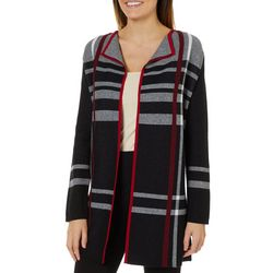 Famous Maker Womens Striped Sweater Cardigan