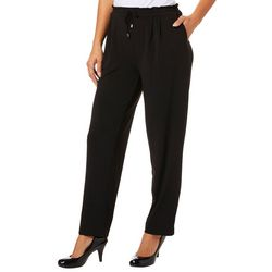 Melissa Paige Womens Solid Drawstring Pull On Pants