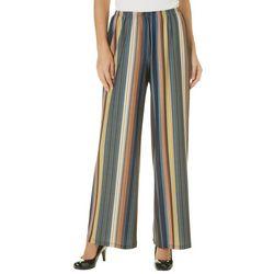 Melissa Paige Womens Dotted Stripe Palazzo Pants