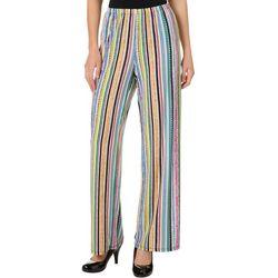 Melissa Paige Womens Dashing Stripes Pull On Palazzo Pants