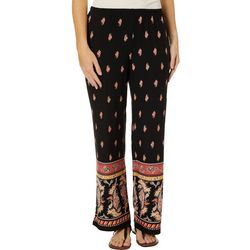 Melissa Paige Womens Paisley Floral Palazzo Pants