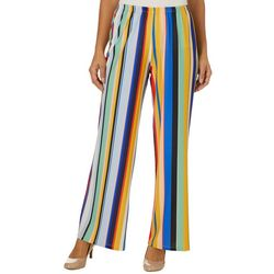Melissa Paige Womens Striped Pull On Palazzo Pants