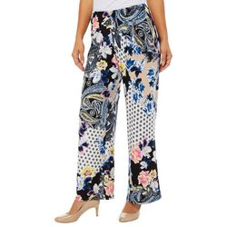 Melissa Paige Womens Floral Polka Dot Pull On Palazzo Pants