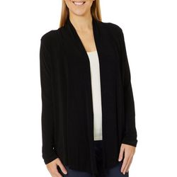 Como Voyage Womens Solid Open Front Cardigan