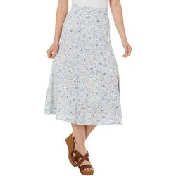 AGB Womens Ditzy Floral Pull On Skirt