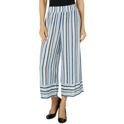 AGB Womens Striped Crop Pull On Pants