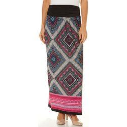 AGB Womens Medallion Print Maxi Skirt