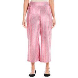 Max Studio Womens Stripe Ankel Linen Pants
