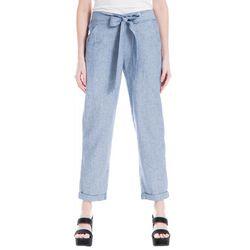Max Studio Womens Stripe Linen Pants