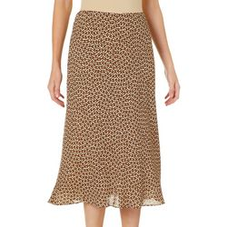 Max Studio Womens Printed Midi Skirt
