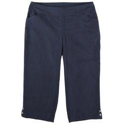 Coral Bay Plus Dual Pockets Solid Capris