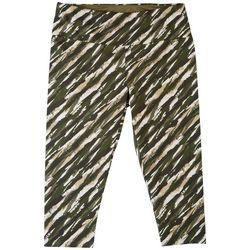 Khakis & Co Plus Striped Capri Leggings