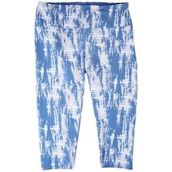 Plus Tye Dye Capri Leggings