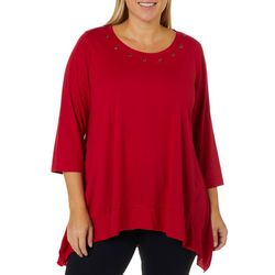 C&H Alliance Plus Solid Grommet Neck Top