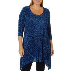 C&H Alliance Plus Space Dyed Ribbed Tunic Top