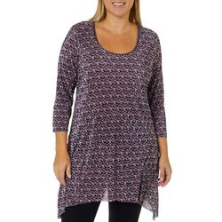 C&H Alliance Plus Dotted Ribbed Tunic Top