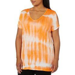 Allie & Rob Plus Tie Dye Slit Sleeve Top