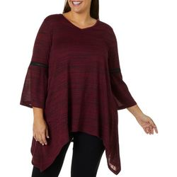 Allie & Rob Plus Space Dye Bell Sleeve Top
