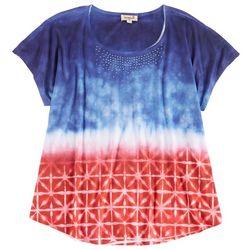 Lynn Ryan Plus  Red White And Blue Printed Sleevless Top