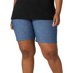 Lee Plus Solid Denim Look Solid Bermuda Shorts