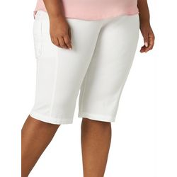 Lee Plus Flex-To-Go Solid Relaxed Fit Cargo Skimmer Capris